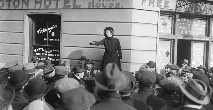 Astor 100 - Lady Astor canvassing 1919, Plymouth..jpg